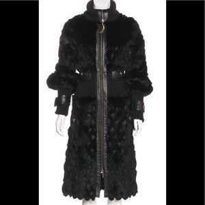 Just Cavalli by Roberto Cavalli long fur coat